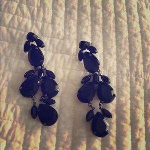 Black jewel earrings.